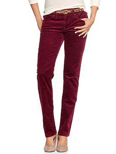 The Gap Ruby Wine Skinny Cords