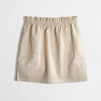 J. Crew Factory Linen Mini Skirt
