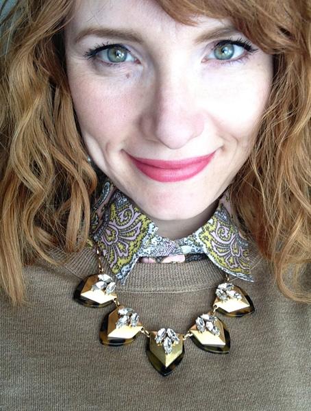 J. Crew tortoiseshell necklace