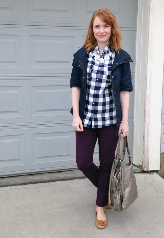 Old Navy buffalo plaid shirt