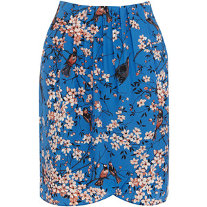 Oasis floral wrap skirt