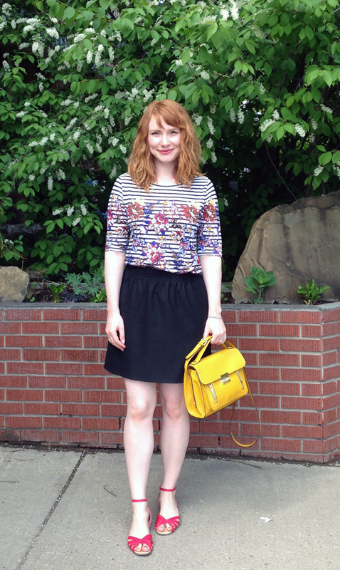 J. Crew striped floral top