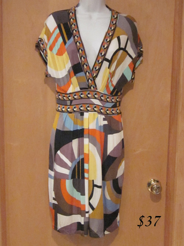 BCBG geometric print mod dress