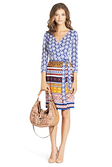 Diane von Furstenberg  ikat wrap dress