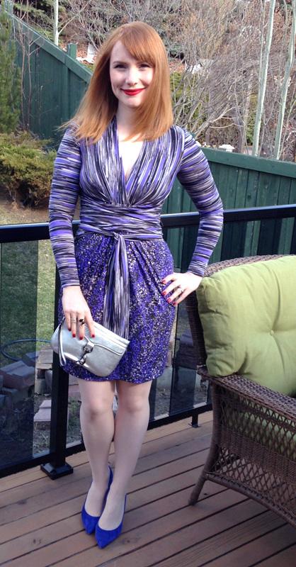 BCBG faux wrap dress