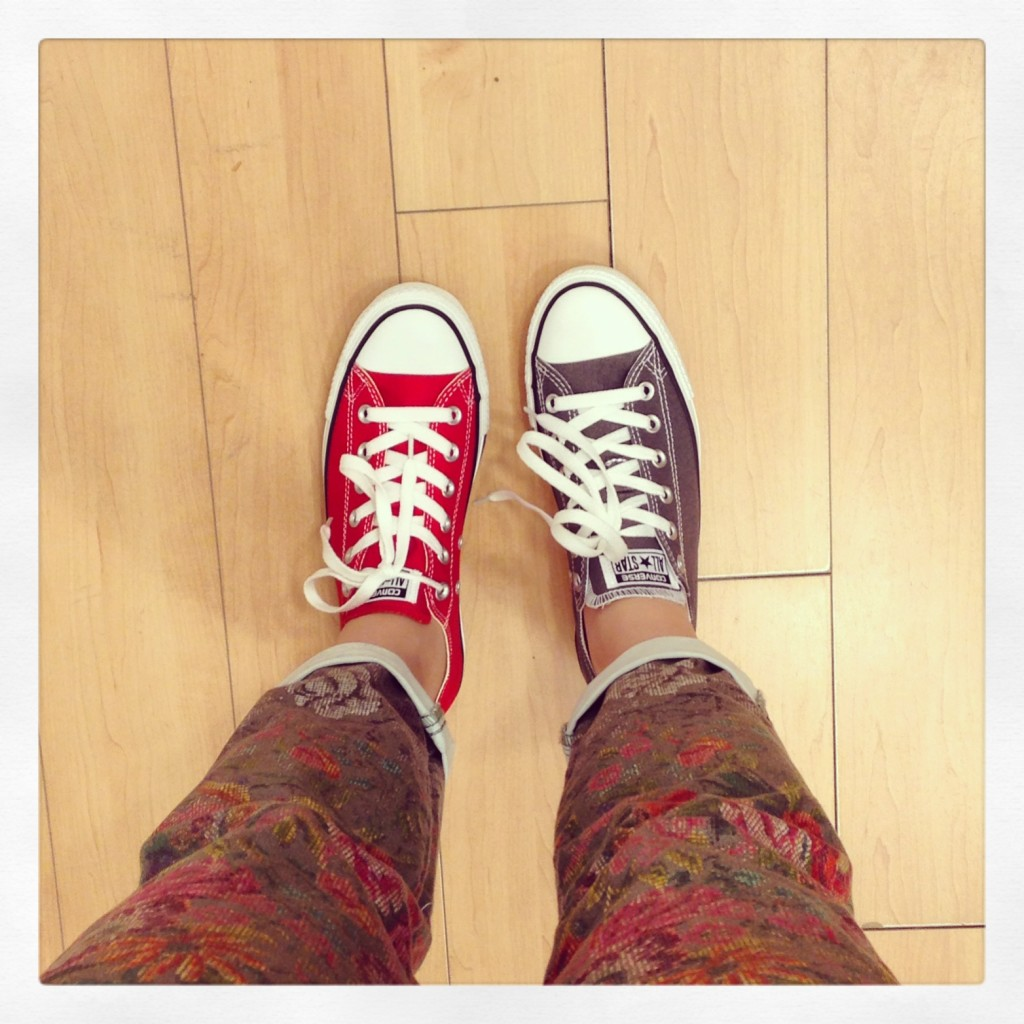 Converse Chucks red or grey
