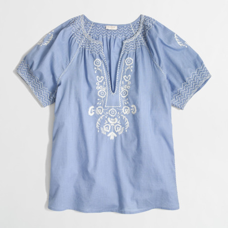 J. Crew Factory Peasant Blouse