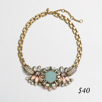 J. Crew Factory Aqua centrepiece necklace