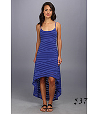 Seven& jeans hi-low striped dress
