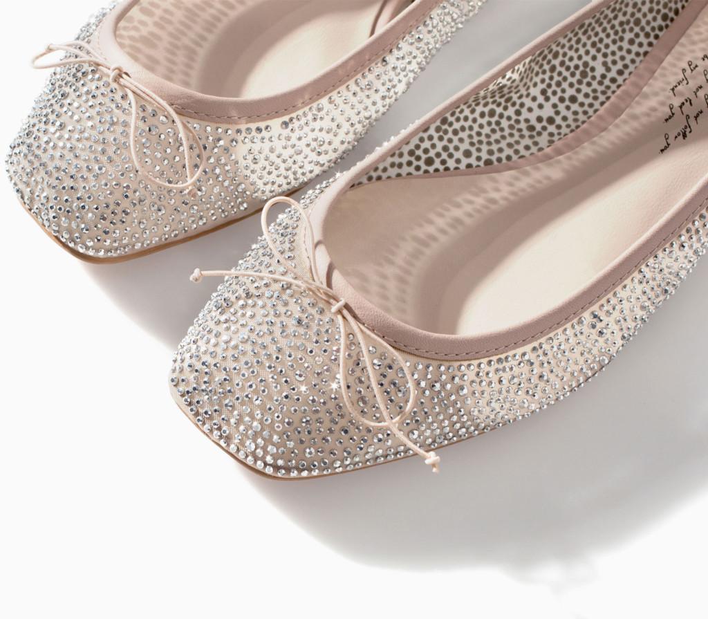 Zara sparkle ballet flats