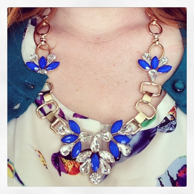The Bay cobalt blue necklace