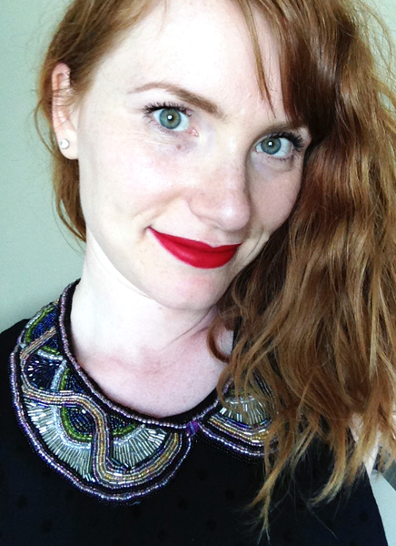 DIY beaded peter pan collar