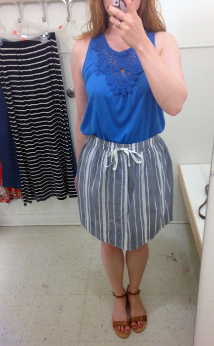 Joe Fresh striped skirt
