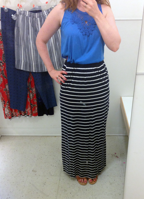 Joe Fresh striped maxi skirt