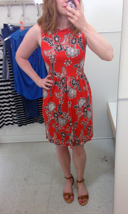 Joe Fresh orange floral skater dress