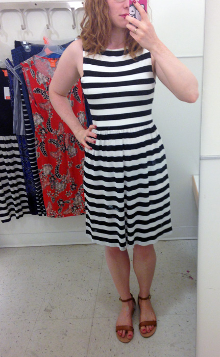 Joe Fresh striped skater dress