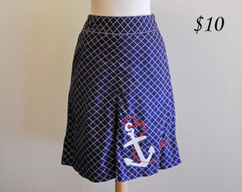 L.L. Bean Nautical Skirt