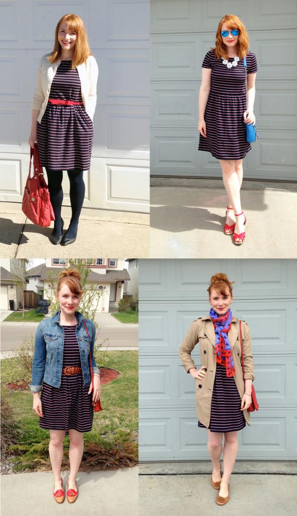 Joe Fresh striped dress; 30 x 30