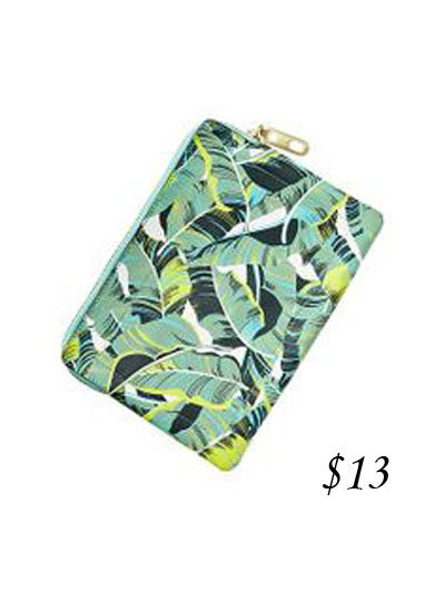 Gap Palm Leaf Print Clutch
