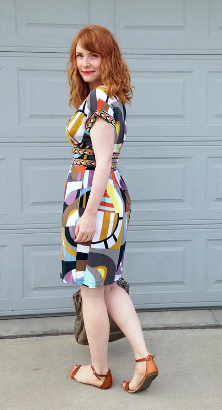 BCBG geo print dress