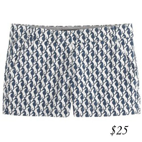 J. Crew printed city shorts