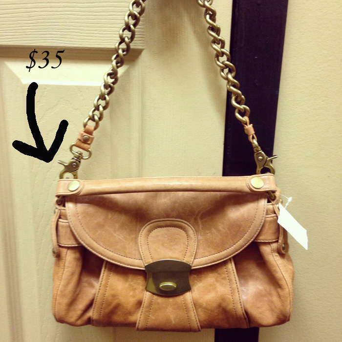 Kooba tan chain strap shoulder bag