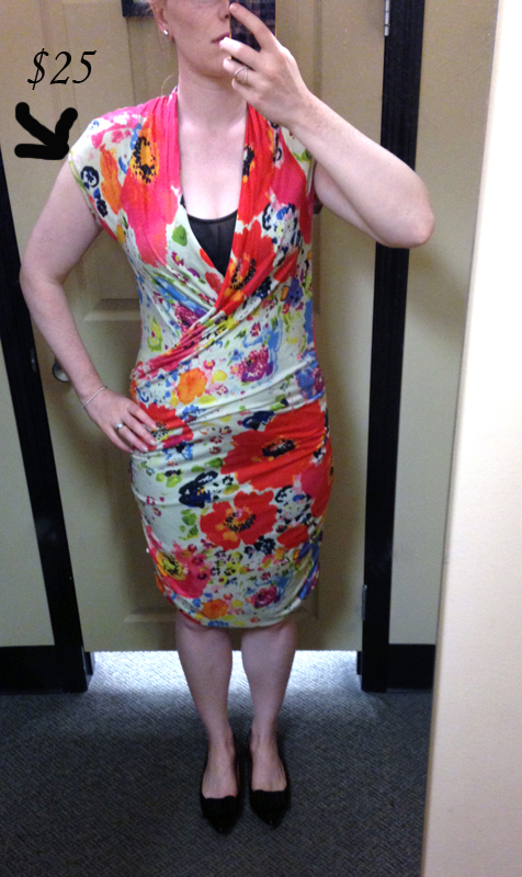 RACHEL Rachel Roy floral ruched dress