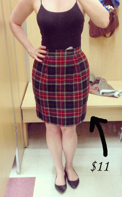 Ports 1961 Plaid Skirt