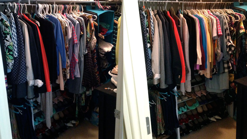 closet inventory; closet organization
