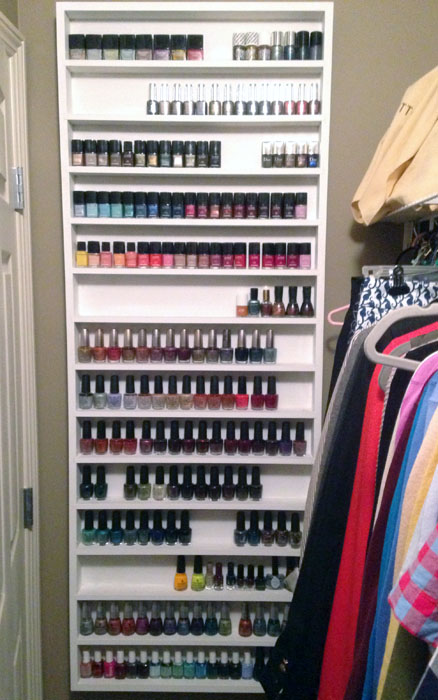 nail polish storage; closet inventory; closet tour; closet organization