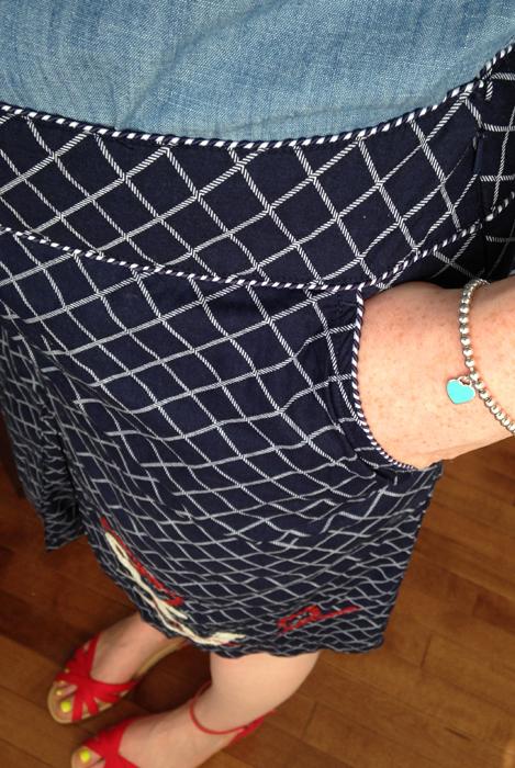 LL Bean anchor skirt