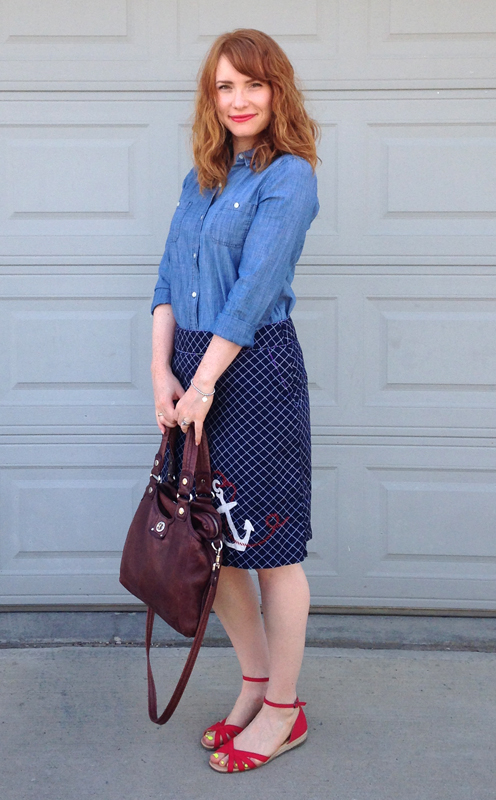 LL Bean anchor skirt