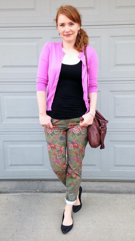 Anthropologie Pilcro floral pants