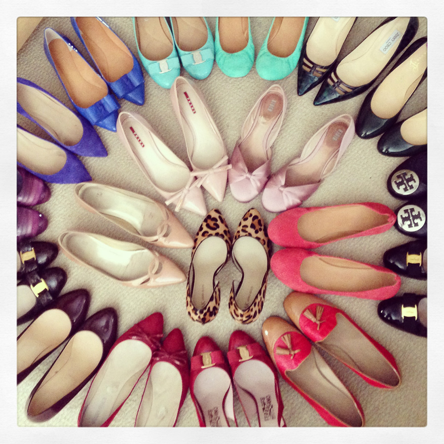 style management triangle; shoe spiral; spiral of shoes; rainbow of shoes; shoe rainbow