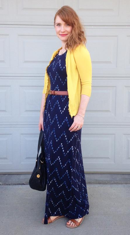 Target Merona print maxi dress