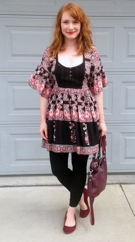 hippie chic; Free People floral peasant tunic