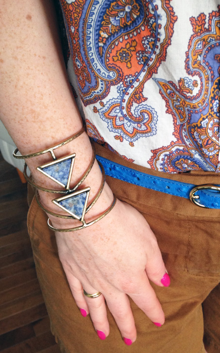 Free People blue stone cuff