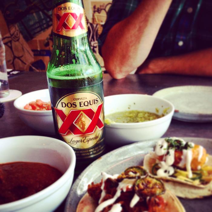 Edmonton El Cortez tequila bar; dos equis beer