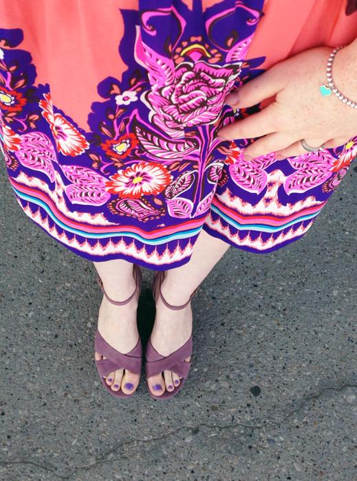 Anthropologie Edme Esyllte Phosphorescence skirt; Pour La Victoire wedge sandals; Marc Jacobs Courtney hobo