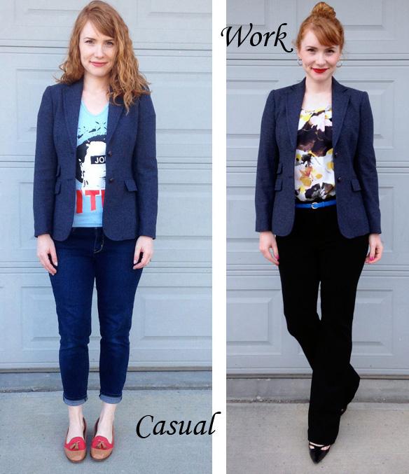 J. Crew factory tweed blazer; fall tweed blazer; fall jacket; transitional jacket