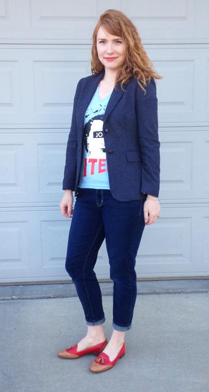 fall key pieces; tweed jacket; tweed blazer; J. Crew Factory tweed blazer; transitional blazer