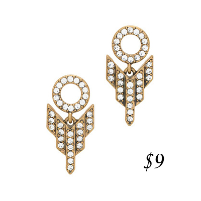 J. Crew Deco Arrow Earrings