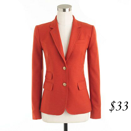 J. Crew Schoolboy Blazer (burnished rust)
