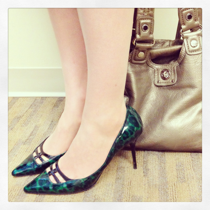 Jimmy Choo Alma green leopard print pumps