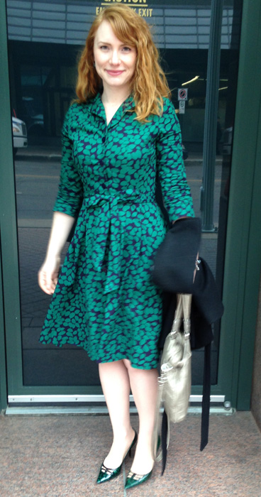 Boden green shirt dress