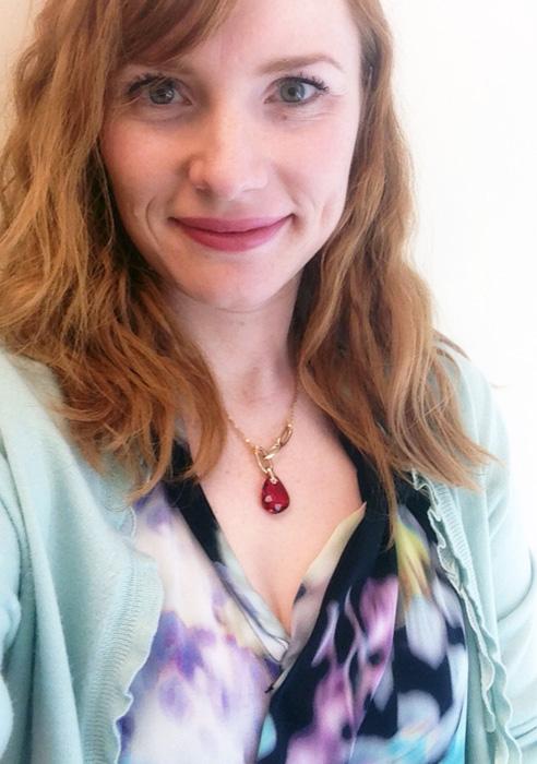 Swarovski red stone pendant