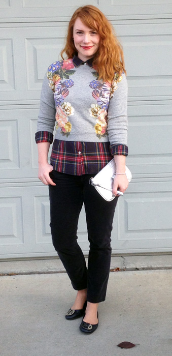 J. Crew dutch floral sweatshirt