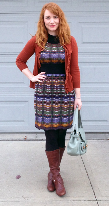 Missoni dress; Marc Jacobs Kirsten bag