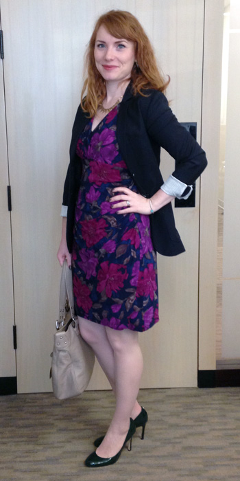 Ralph Lauren purple floral dress