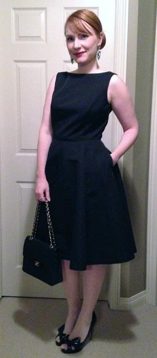 Isaac Mizrahi for Target dress; Audrey Hepburn LBD; Audrey Hepburn black dress; boat neck black dress